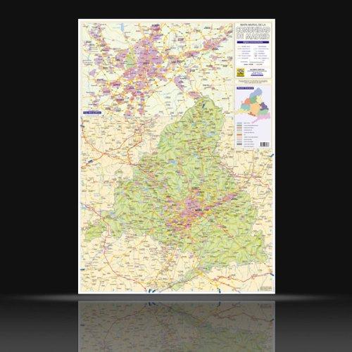 9788496630666: COMUNIDAD DE MADRID. Mapa Mural 70 x 100 cm.