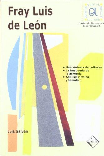 9788496634022: Fray Luis de León - guia de lectura -