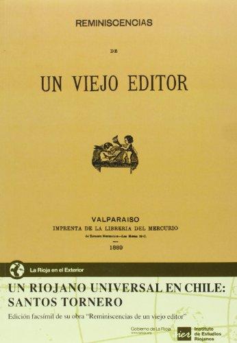9788496637993: Un riojano universal en Chile: Santos Tornero: edición facsímil de su obra