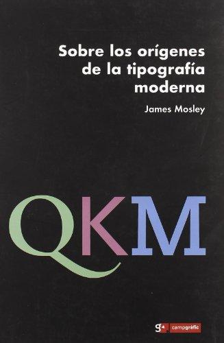 9788496657199: Sobre los origenes de la tipografia moderna