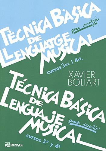 9788496753990: Técnica básica de lenguaje musical grado medio 3-4 (Técnia básica de lenguaje musical: grado medio)
