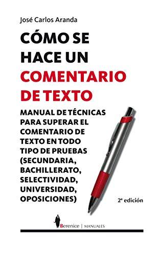 9788496756038: Como se hace un comentario de texto / How a Text Comment is Made (Spanish Edition)