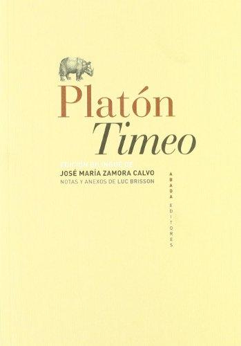 TIMEO (ED. BILINGÜE): Platón (Autor), Luc