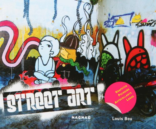 STREET ART -GRAFFITIS, POCHOIRS, AUTOCOLLANTS, LOGOS: BOU, LOUIS