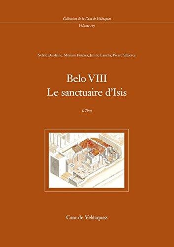 9788496820142: Belo VIII: Le sanctuaire d'Isis (Collection de la Casa de Velázquez)