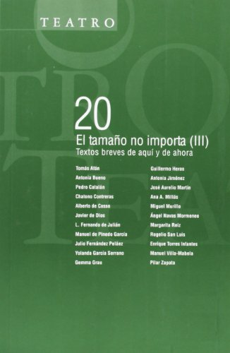 EL TAMAÑO NO IMPORTA (III): Textos breves: Tomás Afán, Antonia