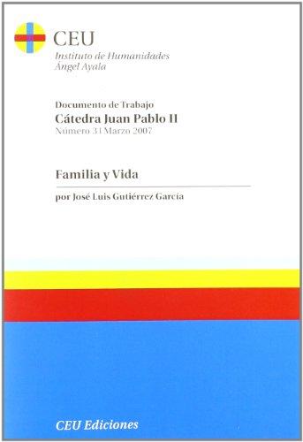 9788496860063: Familia y vida