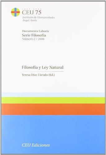 9788496860742: Filosofia Y Ley Natural