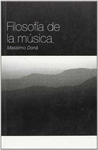 9788496879317: Filosofía De La Música (Sobre Música)