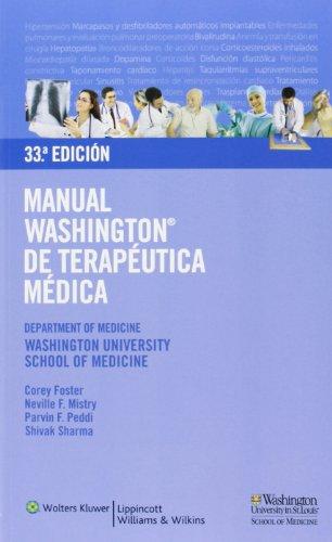 9788496921603: Manual Washington de terapéutica médica (Spanish Edition)