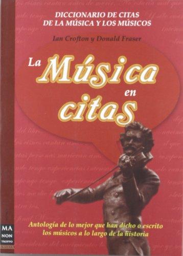 Música en citas, la: Antología de lo