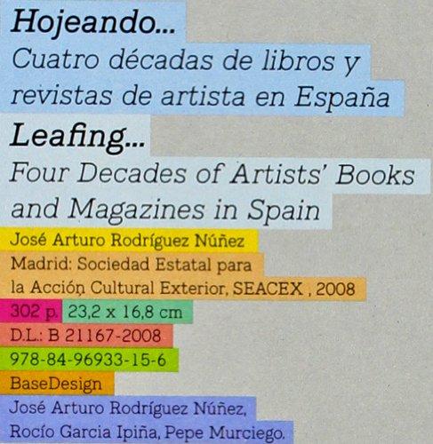9788496933156: Hojeando : cuatro décadas de libros y revistas de artistas en España