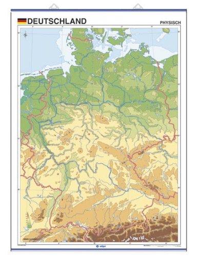 9788496953260: Deutschland, physisch / Politisch: Mapas Murales Mudos