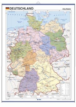 9788496961210: Deutschland, politisch: Mapas Mini-murales