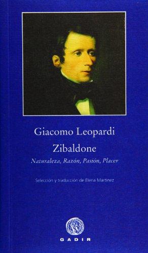 9788496974647: Zibaldone: Naturaleza, Razón,Pasión, Placer (Pequeña Biblioteca)