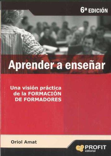 9788496998209: APRENDER A ENSEÑAR (Spanish Edition)