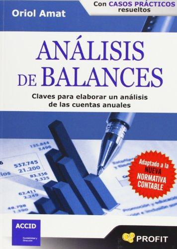 9788496998827: Análisis De Balances
