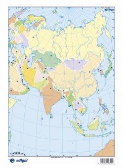 9788496999725 Asia Politico Mapa Mudo De Ejercicios Abebooks