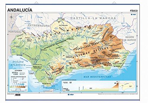 9788496999862: Andalucía, Físico / Político Póster