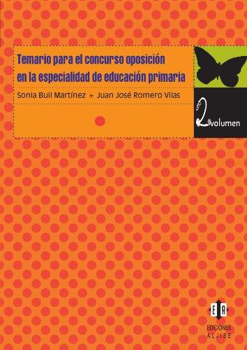 9788497003841: Temario para el concurso oposicion en la especialidad de educacion primaria vol 2 (Spanish Edition)
