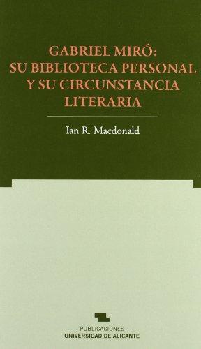 9788497171243: Gabriel Miro su biblioteca Personal (Spanish Edition)