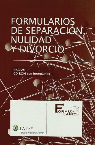 9788497258289: Formularios de Nulidad, Separación y Divorcio