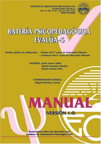 9788497271066: EVALÚA-5 (Manual) (División Test)