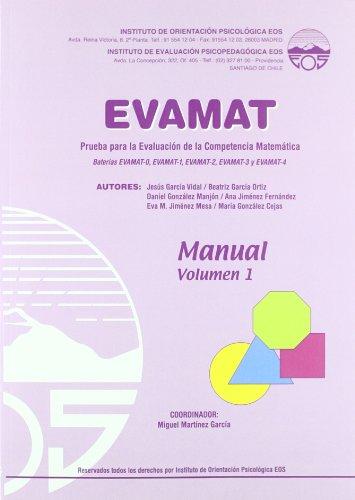 9788497273534: EVAMAT MANUAL 1 (NIVELES 0, 1, 2, 3 Y 4)