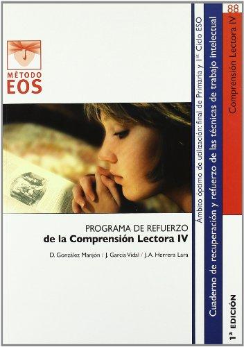 9788497274135: Programa de refuerzo de la comprensión lectora IV