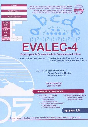 9788497274623: EVALEC 4 Batería para la Evaluación de la Competencia Lectora (División Test)