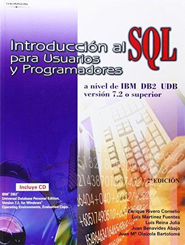 9788497320825: Introduccion Al SQL Para Usuarios y Programadores (Spanish Edition)