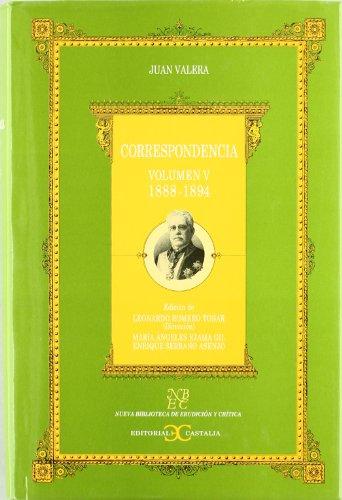 9788497400442: Correspondencia. Volumen V. (1888-1894) . (NUEVA BIBLIOTECA DE ERUDICION Y CRITICA)