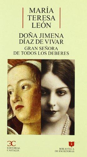 9788497400978: Doña Jimena Díaz de Vivar . (BIBLIOTECA DE ESCRITORAS. B/E.)