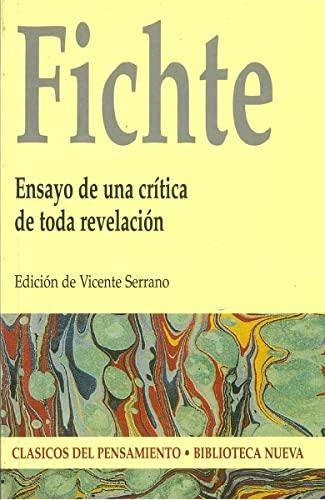 9788497420365: FICHTE: ENSAYO DE UNA CRITICA DE TODA REVELACION (Spanish Edition)