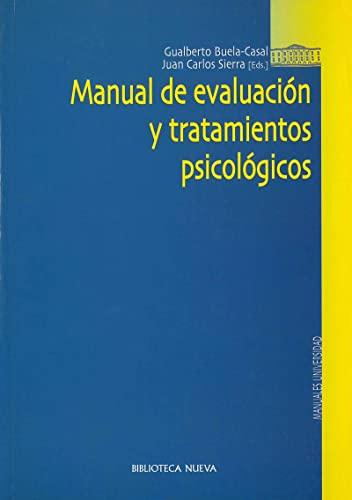 9788497423281: Manual de evaluación y tratamientos psicológicos