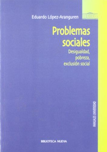 9788497424295: Problemas Sociales. Desigualdad, Probreza, Exclusión Social