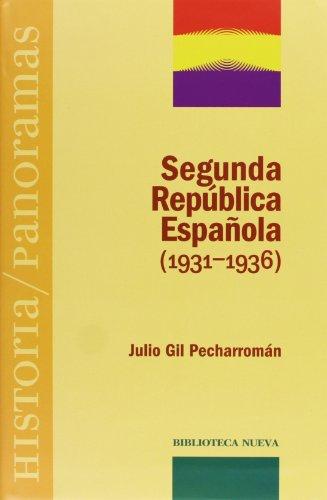 9788497425360: Segunda República Española (1931-1936) (Historia/Panoramas)