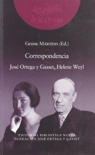 9788497428392: Correspondencia. José Ortega Y Gasset, Helene Weyl