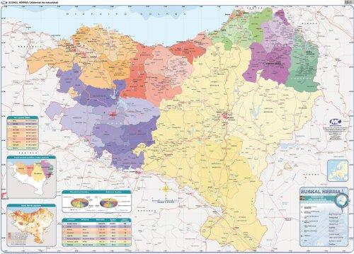9788497464123: Euskal Herriko mapa fisiko/politikoa - 9788497464123