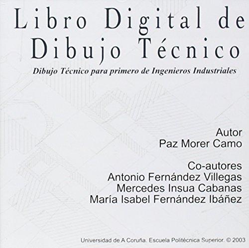 9788497490627: Libro digital de dibujo tecnico. Dibujo tecnico para primero de ingenieros industriales (CD- ROM) (Spanish Edition)