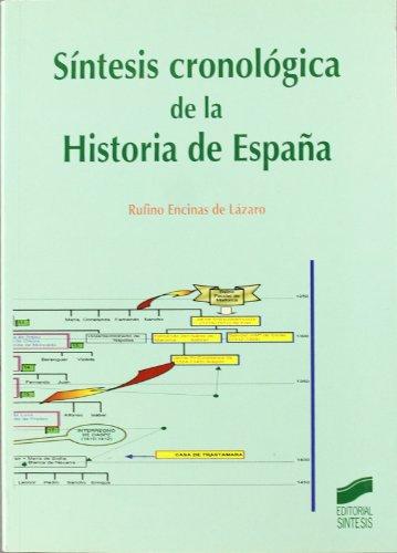 9788497560092: Sintesis cronologica de la historia de Espana