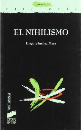 9788497562270: El nihilismo (Filosofía. Hermeneia)