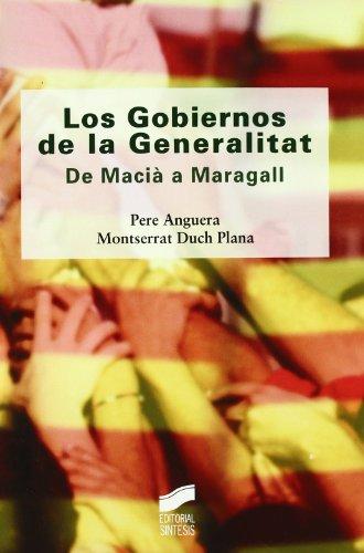 9788497565660: Los Gobiernos de la Generalitat/ The Governments of the Catalonian Generalitat (Diversos) (Spanish Edition)