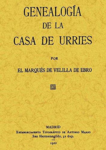 9788497610926: Genealogía Casa Urríes