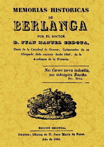 MEMORIAS HISTORICAS DE BERLANGA: BEDOYA, JUAN MANUEL