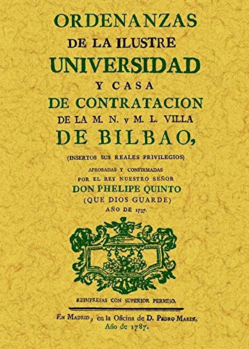 9788497614184: ORDENANZAS DE LA ILUSTRE UNIVERSIDAD DE BILBAO