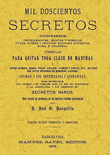 MIL DOSCIENTOS SECRETOS: RONQUILLO, JOSE ORIOL