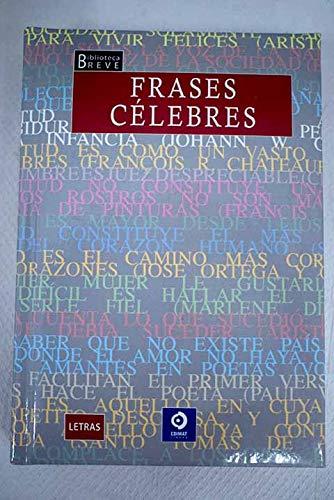 9788497649674: FRASES CELEBRES (Spanish Edition)