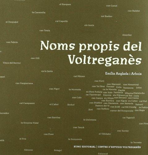 9788497662833: Noms propis del Voltregan?s