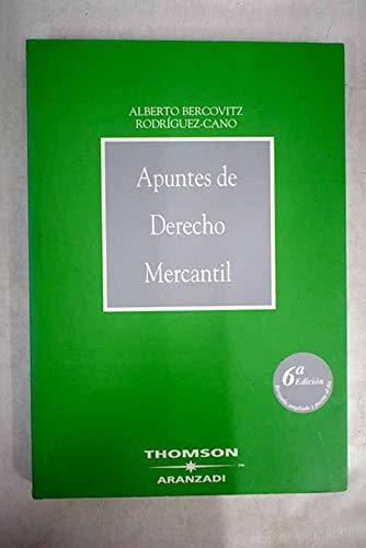 9788497675185: Apuntes de Derecho Mercantil (Manuales)